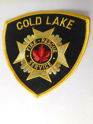 Cold Lake Fire Rescue Services Department Vintage Patch Badge Alberta Canada