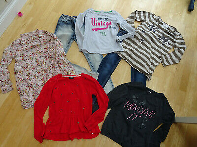 NEXT girls 7 piece clothes bundle jeans jumper top dress AGE 10 YEARS