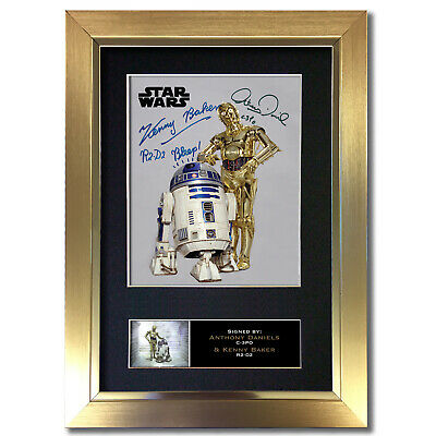 ANTHONY DANIELS KENNY BAKER Signed A4 Size Photo STAR WARS R2D2 PREPRINT 4609