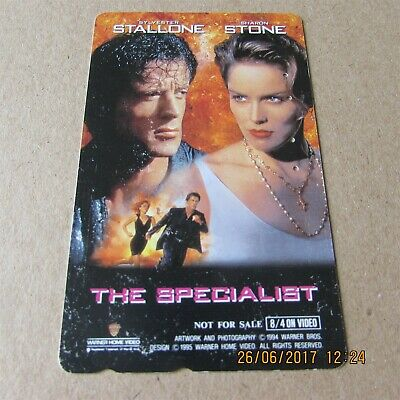 The Specialist Stallone Stone On Used Phonecard From Japan (7)