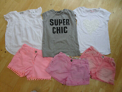 NEXT girls 6 piece summer clothes bundle shorts t shirt top AGE 11 YEARS