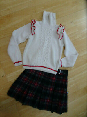 NEXT girls 2 piece tartan skirt & jumper sweater set AGE 11 YEARS EXCELLENT
