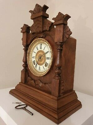 Ansonia 1895 Antique 8 Day Wall Clock