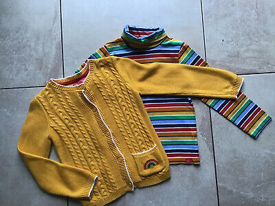 Girls LITTLE BIRD by Jools Oliver polo neck & cardigan set aged 3/4 years...