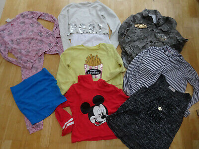 H&M girls 9 piece spring clothes bundle jumper PJs jacket shirt AGE 10 - 11 YEAR