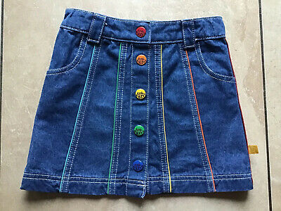 Girls LITTLE BIRD by Jools Oliver button front denim skirt multi colour age 4/5