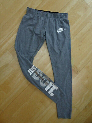 NIKE girls grey print leggings AGE 10 11 12 YEARS EXCELLENT COND
