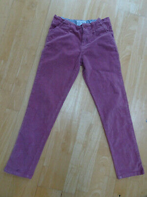 FAT FACE girls pink soft cord jeans trousers AGE 10 - 11 YEARS EXCELLENT COND