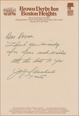 """Jay """"Tonto"""" Silverheels - Autograph Letter Signed"""