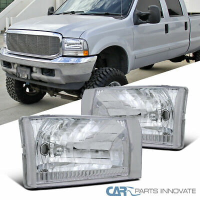 Ford 99-04 F250 F350 F450 F550 00-04 Excursion Clear Headlights Driving Lamps