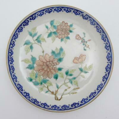 Antique Chinese Famille Verte Porcelain Saucer Dish, 18Th Century