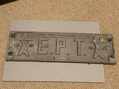 EPT Builders Plate from NSW Freight Wagon (Lot 1)