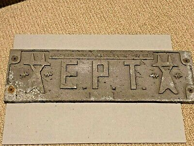 EPT Builders Plate from NSW Freight Wagon (Lot 2)