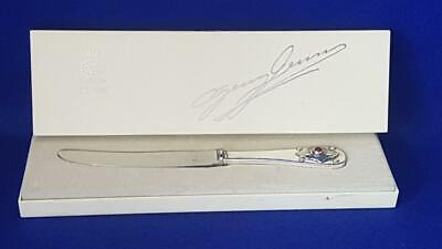 Collectable Georg Jensen 1904-1979 Anniversary Sterling Silver Knife w Carnelian