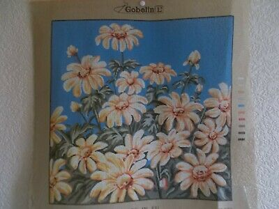 """Tapestry Canvas """" Daisies  """"  New by Gobelin"""