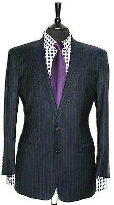 Luxury Mens Chester Barrie Savile Row Pinstripe Suit 42S W36 X L28.5