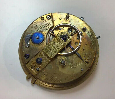 Antique Fusee Patent Lever Pocket Watch Movement T.sampson Liverpool Circa 1880