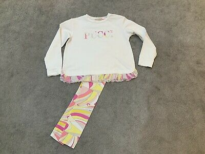 Emilio Pucci Girls Outfit Age 10 Years Jumper And Leggings