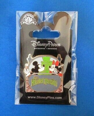 Disney Pin Attractions Mickey & Minnie Mouse Kiss in Haunted Mansion Doom Buggy