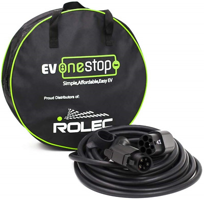 EV/Electric Vehicle Charging Cable | Type 1 to Type 2 | 32 Amp7.2kW | 5 Meter |
