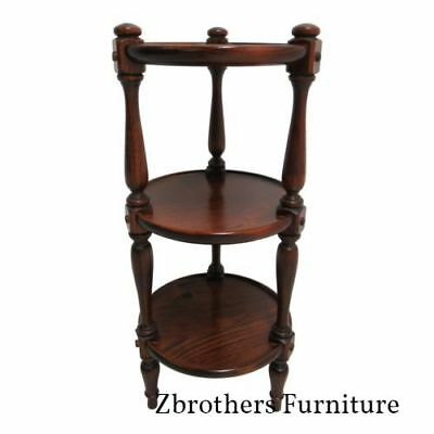 Ethan Allen Lamp End Table Pedestal Old Tavern Pine Muffin Stand