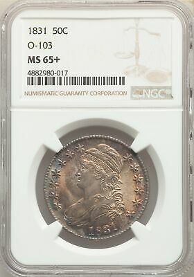 1831 US Silver 50C Capped Bust Half Dollar-O-103 - NGC MS65+