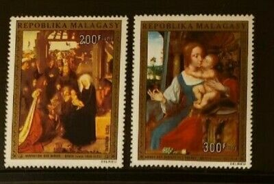 Malagasy C134-5  mnh  Christmas paintings