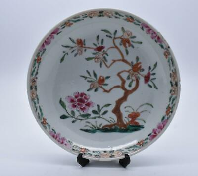 Superb Antique Chinese 18thC Qianlong Famille Rose Dish