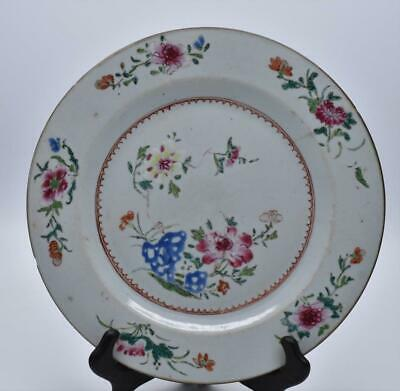 Superb Antique Chinese 18thC Qianlong Famille Rose Plate