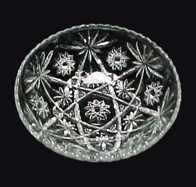 """Early American Prescut 10 3/4"""" Salad Bowl Anchor Hocking Glass Fire King Clear"""