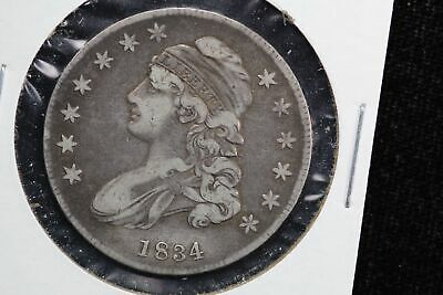 1834 Capped Bust Half Dollar Small Date 0NEZ