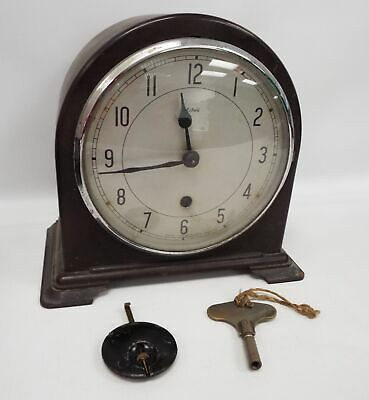 Vintage ENFIELD Mantle Clock With Pendulum & Key - A32