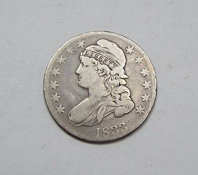 1833 Capped Bust/Lettered Edge Half Dollar VERY GOOD Silver 50c