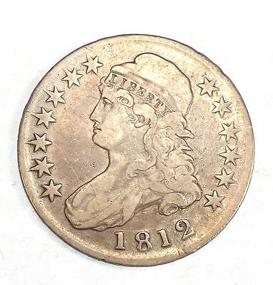 1812 Capped Bust/Lettered Edge Half Dollar VERY FINE Silver 50-Cents