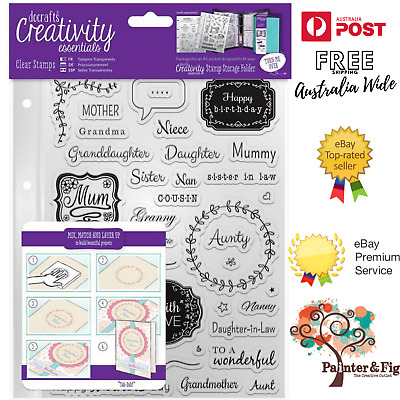 Female Family Stamps - Mother's Day, Aunty, Niece, Daughter, Sister, Relatives