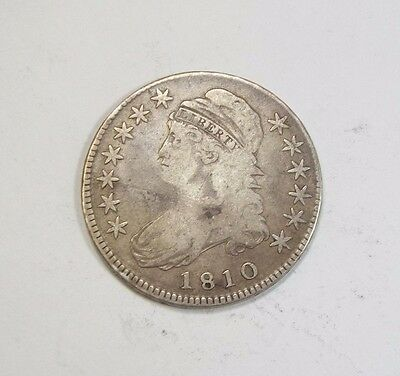 1810 Capped Bust/Lettered Edge Half Dollar FINE+ Silver 50c