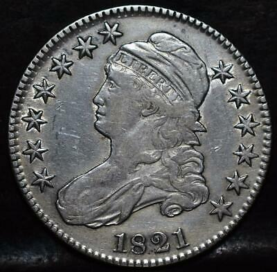 1821 Capped Bust Half Dollar Id#Hh133