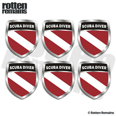 Rescue Diver Tetrahedron Decal Sticker 100-16 Pack of 3