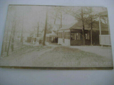 [E1] Vtg travel vacation postcard Michigan - SCENE AT SYLVAN LAKE MI photo