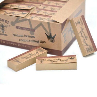 5pcs Hornet Rolling Paper Filter Tips Natural Brown Unrefined 50 leaves 60*21MM