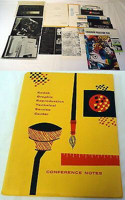 1961 Kodak Graphic Reproduction Technical Service Conference Notes