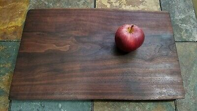 "Black Walnut Solid Charcuterie, Cutting, Serving, Cheese Board, Live-Edge 16"" L"