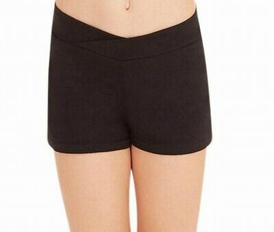 Capezio Shorts Black Girls Big Kids Size Large L Boyshorts Pull-On Knit #836