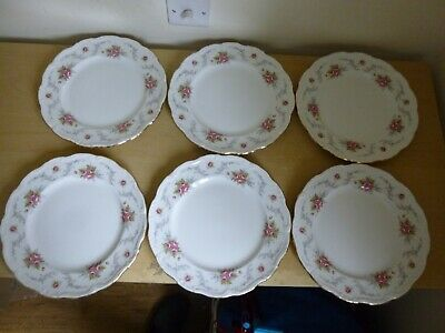 6 Royal Albert Tranquility Dinner Plates - Ditsy Rose