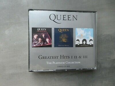 Queen ‎– Greatest Hits I II & III (The Platinum Collection) 3 cd album fat case