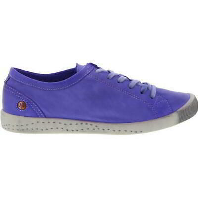 Softinos by Fly London Isla Womens Soft Leather Purple Trainers Shoes Size 4-8