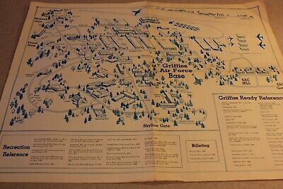 GRIFFISS AIR FORCE BASE - ROME, NY Map/ Reference Chart-Guide Vintage
