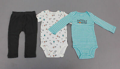 NWT Carter/'s Narwhal Jellyfish 3 Piece Little Character Set Outfit Baby Girl