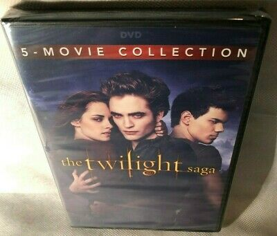 The Twilight Saga: Complete 5-Movie Collection (DVD, 2016, 2-Disc Set) New