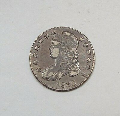 BARGAIN 1833 Capped Bust/Lettered Edge Half Dollar EXTRA FINE Silver 50c